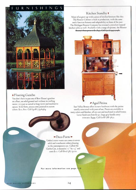 Old House Interiors Article Featuring Hoosier Cabinets Built By The Michigan Hoosier Company