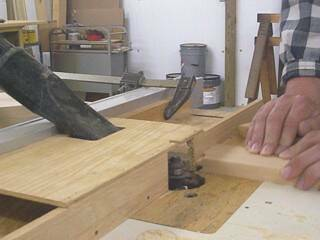 Routing the cope in a Hoosier Cabinet Door Rail